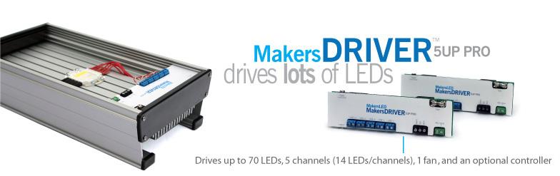 MakersDRIVER 5Up PRO Drives up to 70 3v LEDs
