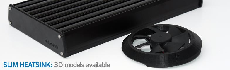 Makers Heatsink SLIM: 3D Printable Parts