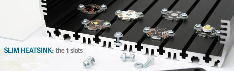 Makers SLIM Heatsink: The t-slots.